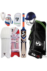 Sg mid  high price range complete batsman cricket kit package with english willow bat izech.com 1