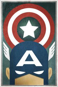 Captain america minimilist poster by shadowdesigns94 d6r2aic