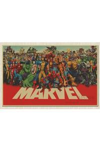 Marvel cuadros super hero retro kraft movie poster antique wall art crafts sticker paint bar cafe