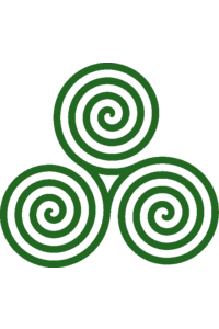 Triple spiral 4turns green transparent